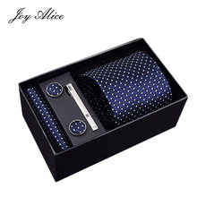 Mens Tie Black Paisley 100% Silk Classic Hanky Cufflinks&clips  Set For Men Formal Wedding Party Groom Hot Sell for men gift