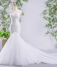 100% de encaje de cuerpo de Organza, más capas, falda de tul, sirena, vestidos de boda