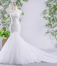 100% настоящая картина, бисер, жемчуг, аппликация, кружево, органза, больше слоев, фатиновая юбка, Русалка, свадебные платья, Mariage
