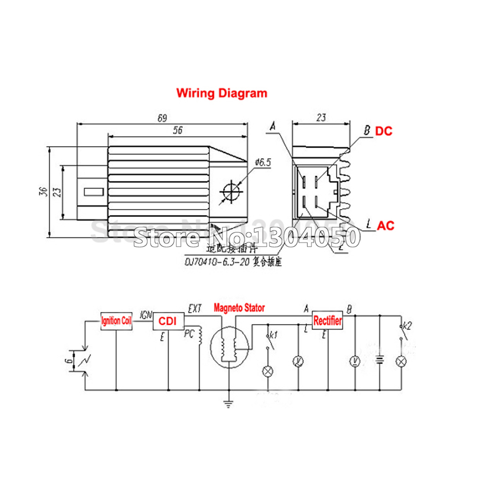 110cc atv five wire cdi diagram