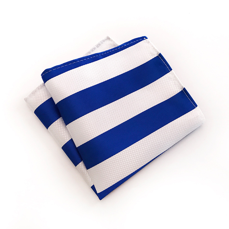 Fashion Design Quality Explosion Models 25x25cm Polyester Business Dress Pocket Towel Various Stripes Business Dress Square