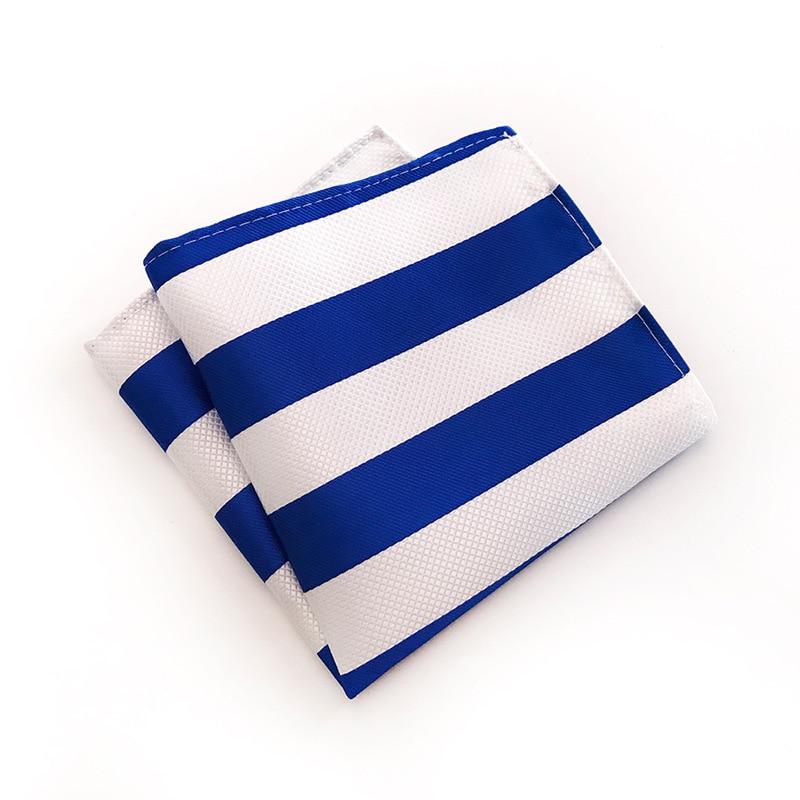 Fashion Design Quality Explosion Models 25x25cm Polyester Business Dress Pocket Towel Various Stripes Business Dress Square