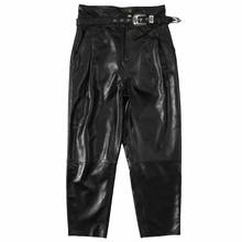 Leather Pants Female Sheepskin Korean New Fashion Imitation Natural for Women Black Motorcycle Streetwear