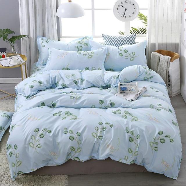 3 / 4pcs new textile quality children's pink cartoon printed bedding duvet cover sheets pillowcase soft skin-friendly home set