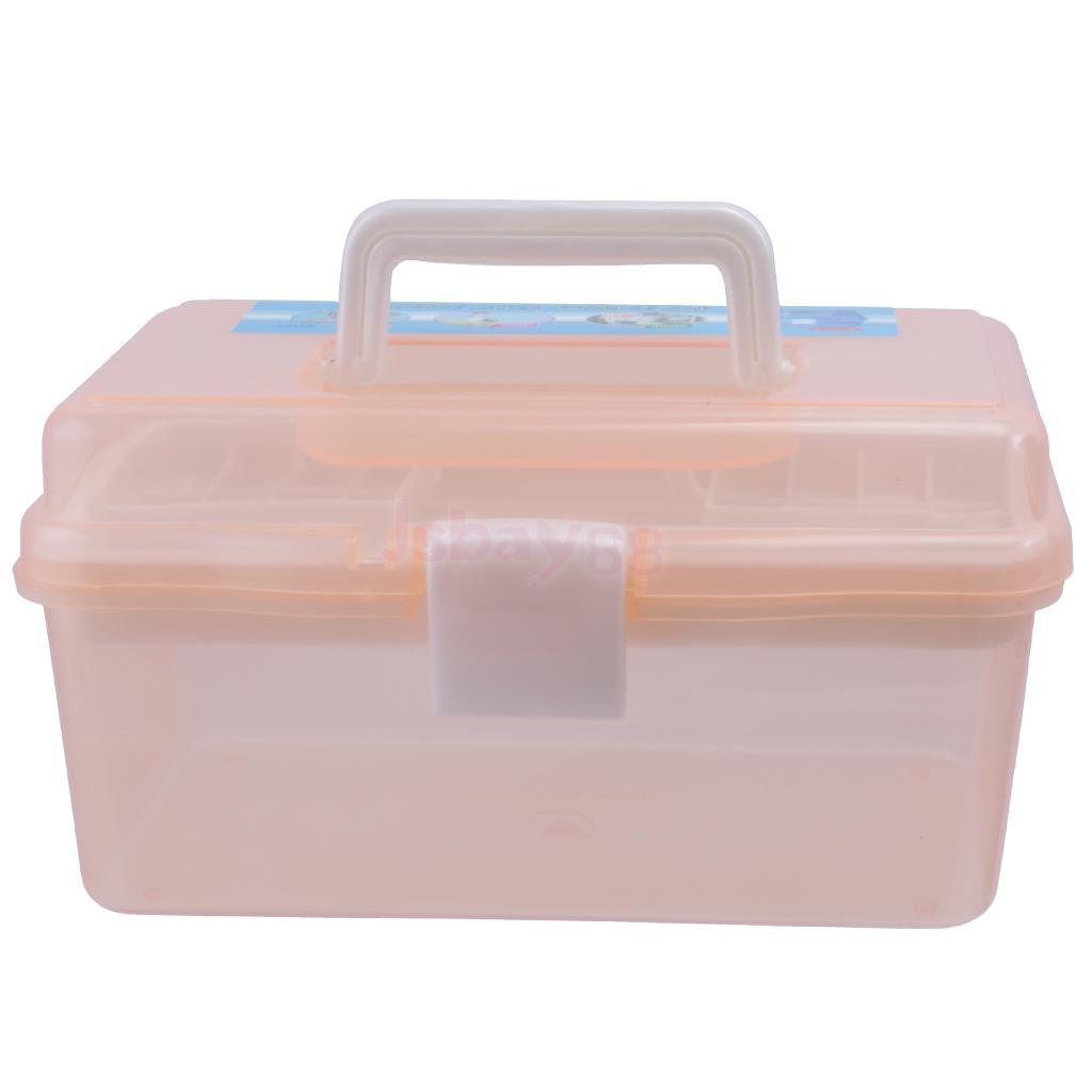Nail Art Organizer: Empty Portable Nail Art Makeup Cosmetic Brush Tool Storage
