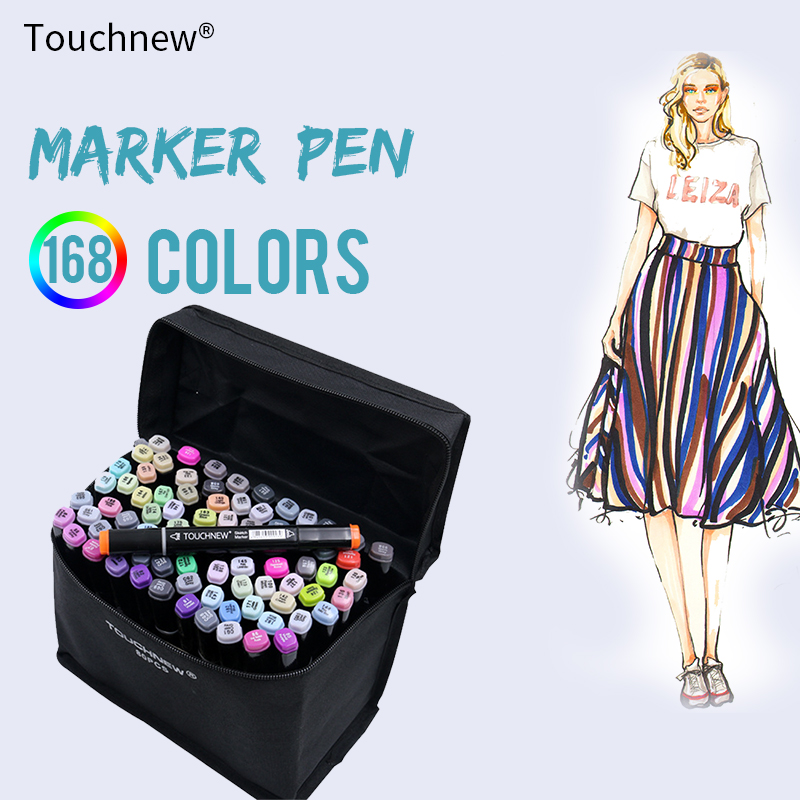 TOUCHNEW 80 Color Professional Art Markers Set Sketch Markers Dual Headed Paint Manga Graffiti Pen Drawing Art Supplies touchnew 30 40 60 80 colors art markers alcohol based markers drawing pen set manga dual headed art sketch marker design pens