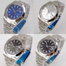 4 models Fashional Saphire Glass 40mm Sterile Dial Self Winding Men's W