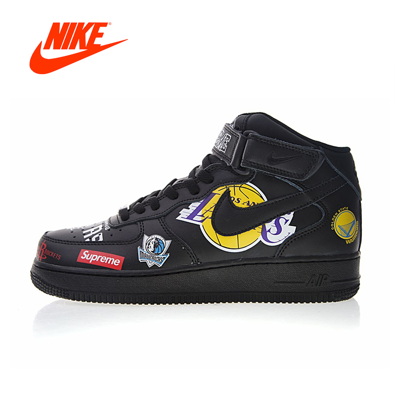 Original New Arrival Authentic Nike Air Force 1 AF1 Supreme NBA Women's Skateboarding Shoes Sport Outdoor Sneakers Good Quality фанатская атрибутика nike curry nba