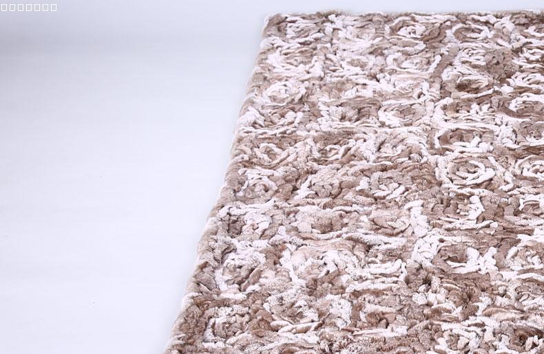Tapis de fourrure de lapin rex naturel mode tricoté marron grandes couvertures de fourrure réelle F906