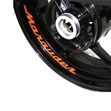 Motorcycle Wheel Sticker Decal Reflective Rim Bike Motorcycle Suitable for SUZUKI MARDUDER for aprilia mv agusta yamaha kawasaki honda bmw 848 1098 gsxr wheel sticker decal reflective rim motorcycle suitable for 17 inch