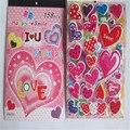 2 unids/lote Cuatro en un libro de amor etiqueta estudiantes de Kindergarten recompensa pegatinas pegatinas de burbuja de PVC protección del medio ambiente