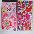 2pcs/lot   Four in one love book sticker Kindergarten reward students stickers PVC environmental protection bubble stickers