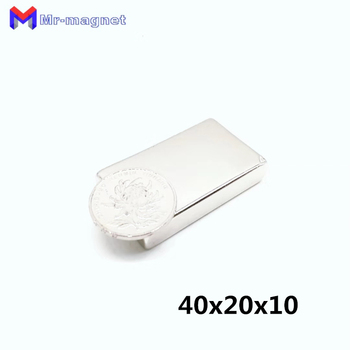 50pcs 40x20x10mm Super strong neo neodymium magnet 40x20x10, NdFeB magnet 40*20*10mm, 40mm x 20mm x 10mm magnets 40mmx20mmx10mm image