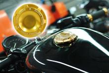 2015 New Motorcycle CNC RC Gold Fuel Tank Gas Cap Fit For 1996-2014 Harley Sportster Dyna Touring Softtail