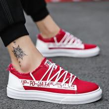 MIVNSKVE Sapatas de Lona Dos Homens Sapatos Casuais Respirável-resistente ao Desgaste Sapatos Confortáveis Sneakers Lace-up Flat Shoes Zapatos Hombre