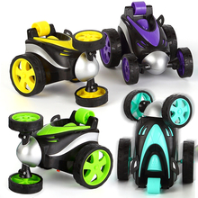 Wireless Remote Control RC Cars Tumbling Stunt Dump Truck car Toys For Children Electric Cool  Toy Boy Kids Gifts dropshipping все цены