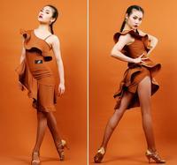 Adult/Children tassel Latin Dance Dress Women Girls/Lady Cha Cha/Rumba/Samba/Tango/Ballroom Dance Skirt Latin dress leopard