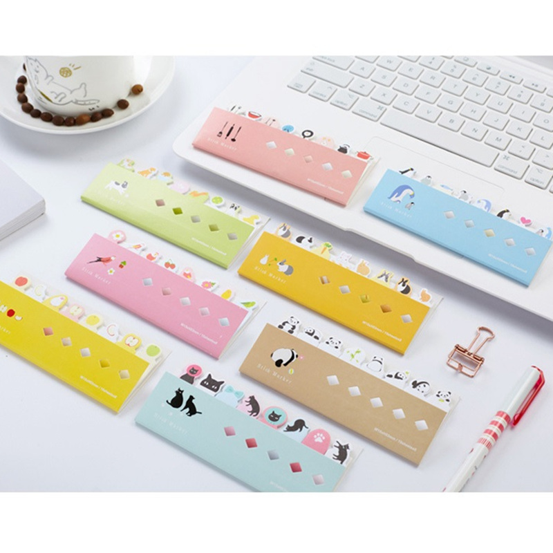 8 pcs/Lot Cute animal sticky note Post memo pads Decorative diary sticker Dog cat penguin Stationery School supplies F730