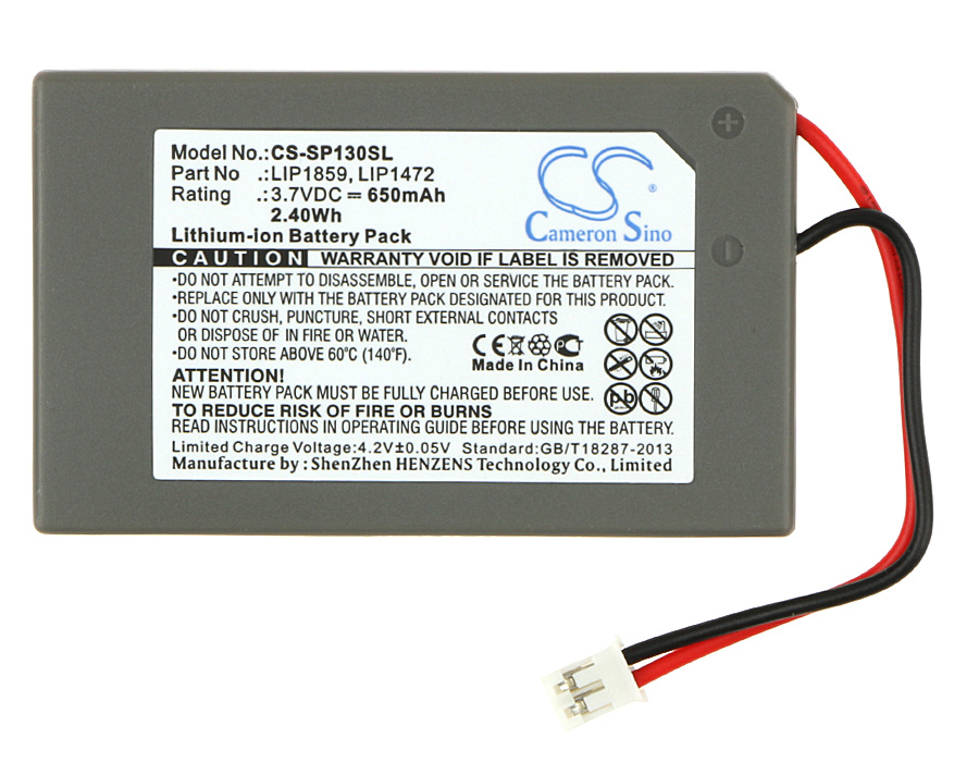 Cameron Sino 650mAh Battery LIP1472, LIP1859 For Sony PlayStation 3 SIXAXIS, PS3