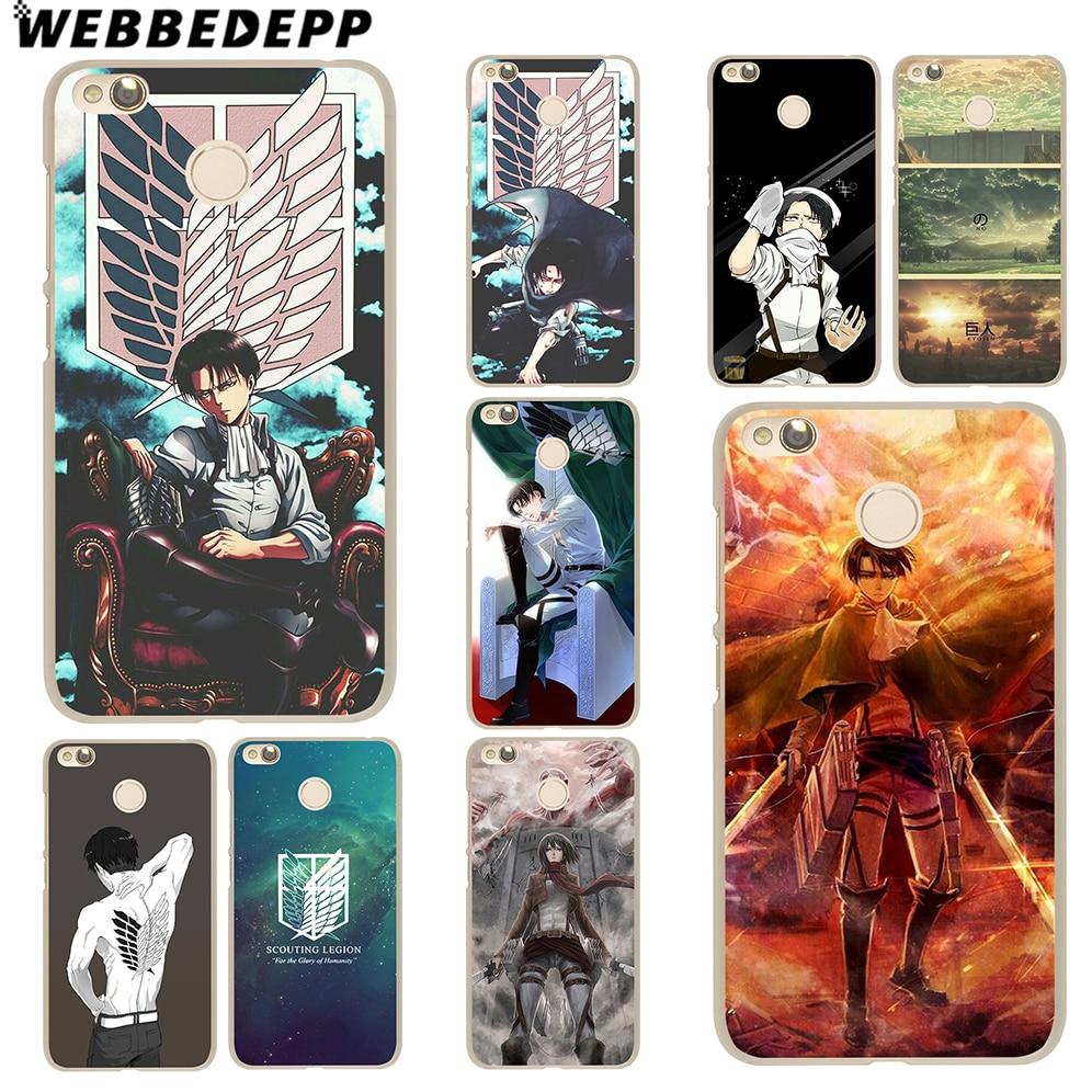 WEBBEDEPP Attack on Titan Ackerman Case for Xiaomi Mi 8 SE 6 5S Plus 5X A1 Redmi 4X 4A 5 Plus 4 3 Pro 3S Note 4 3 2