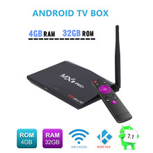Android8.1 Network TV BOX Dual Band WIFI 3.0USB Media Player IPTV Smart Box 1080p HD 4K AH-LINK MX9 PRO RK3328 4GB+32GB TV Box