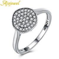 Ajojewel Hot Sale Fashion Luxury Women Engagement Jewelry 925 Sterling Silver 3A CZ Crystal Zircon Female