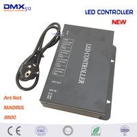 DHL Free shipping 4 ports(4096 pixels) LED artnet controller supports artnet protocol,DMX512 controller,work with MADRIX,Jinx!