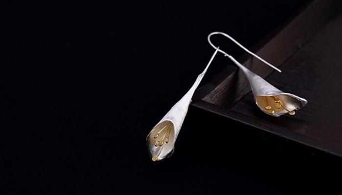 Sterling S925 925 silver Drop Earring Tassel vintage trendy earings 12*64MMSterling S925 925 silver Drop Earring Tassel vintage trendy earings 12*64MM