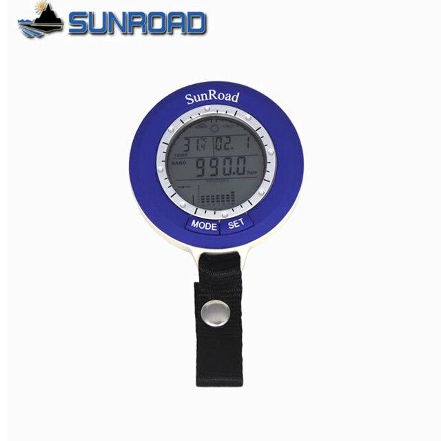 Sunroad SR204 متعددة الوظائف LCD صغيرة الرقمية الصيد بارومتر مقياس الارتفاع ميزان الحرارة مقاوم للماء