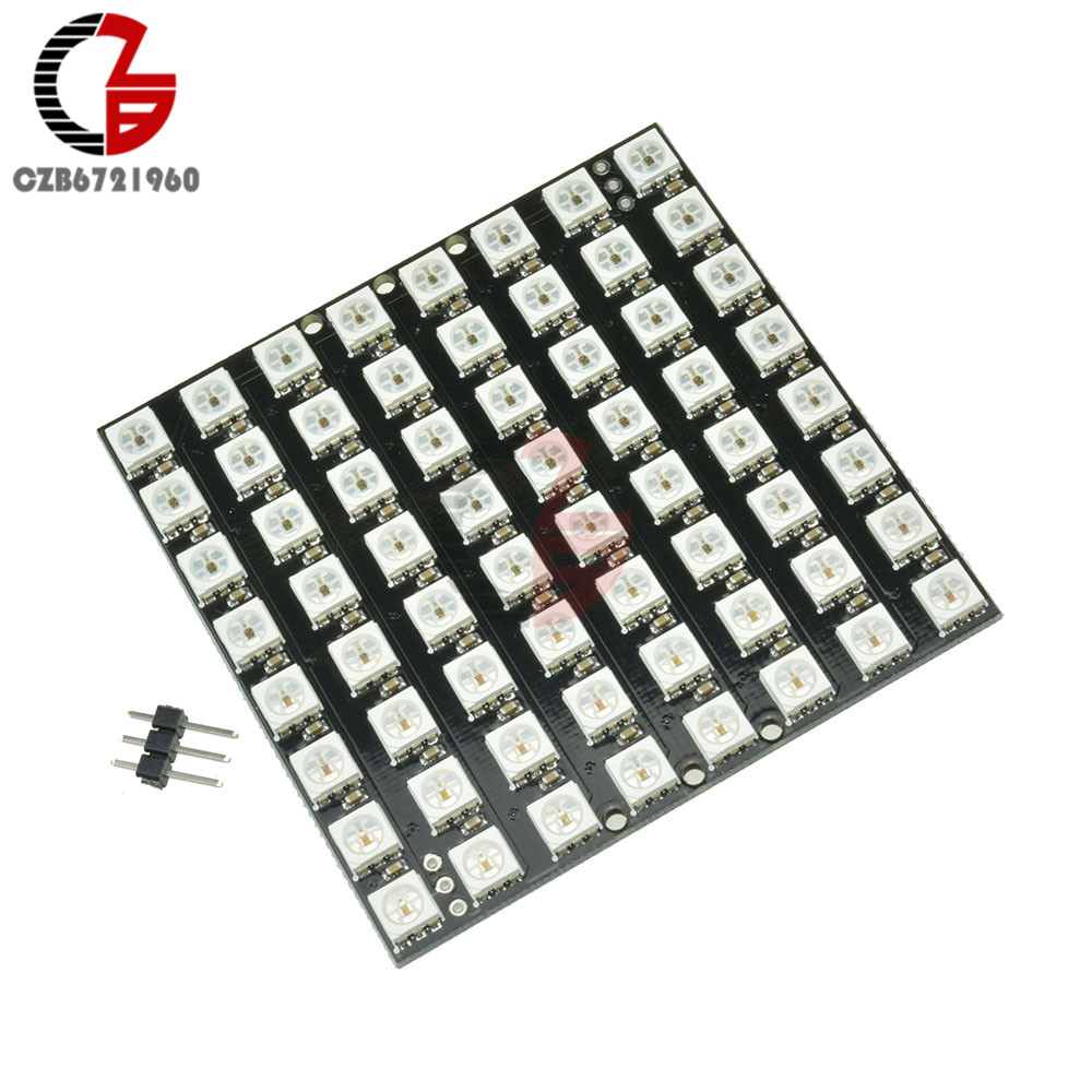 Leory 5v 64 Bit Ws2812 5050 Rgb Led Driver Development Board Circuit Accessories & Parts