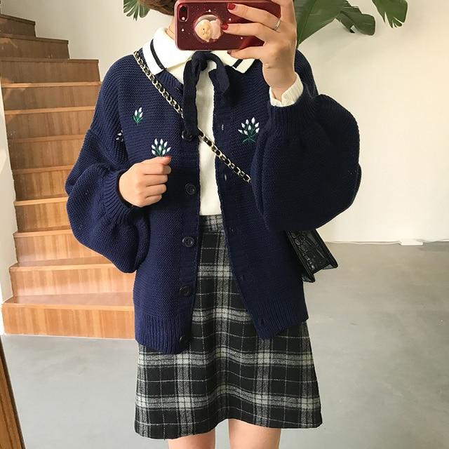 Women's Casual Skirts Japanese Kawaii Ulzzang Vintage Plaid High Waist A-line Skirt Female Korean Harajuku Clothing For Women 3