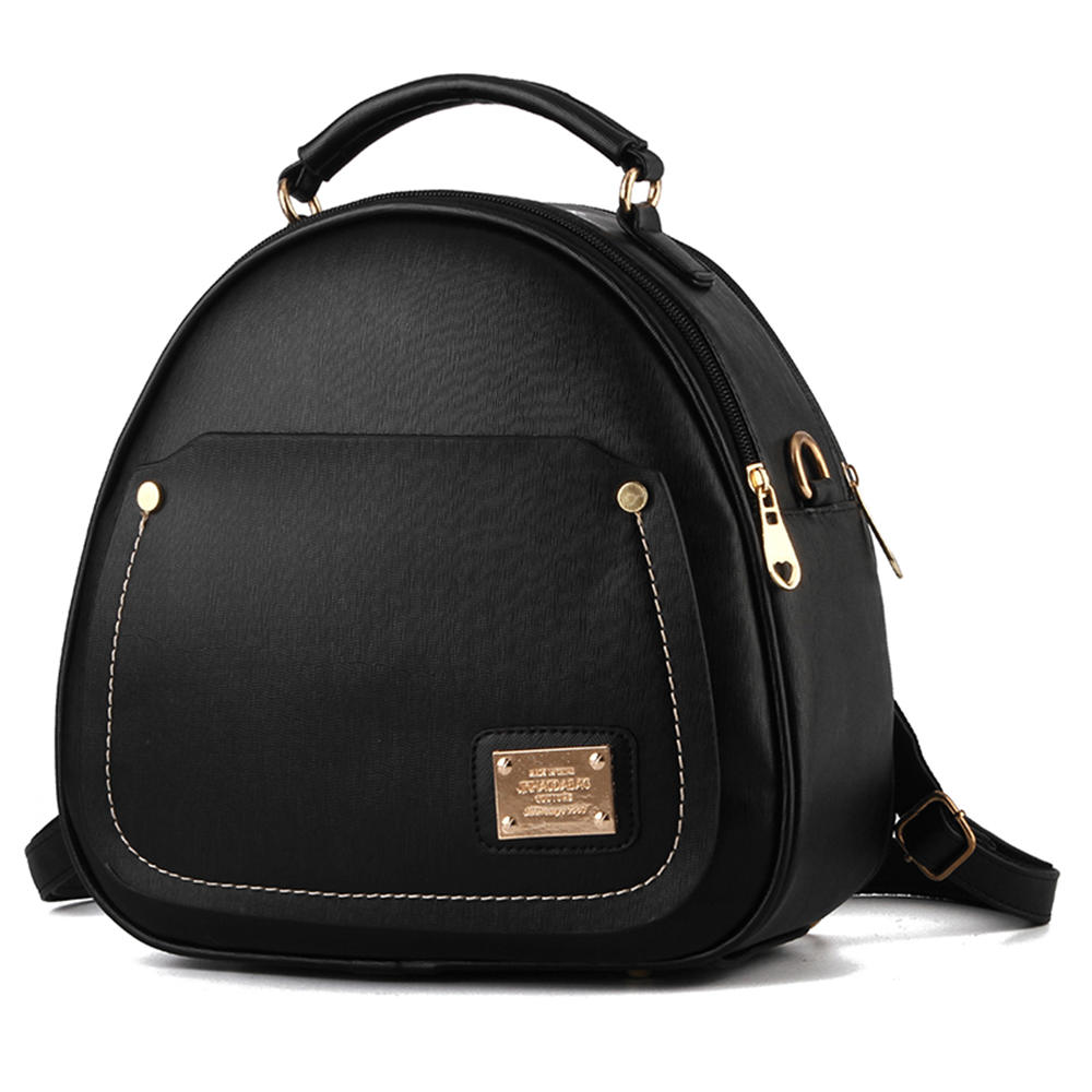 Korean Style Minimalist Small PU Leather Lady Backpack Fashion Multifunction Women Shoulder Bag Girl Shopping Travel