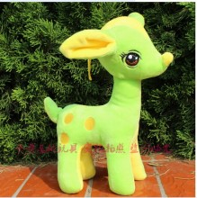 5 pieces cute beauty deer toys lovely plush green deer soft toy wedding gift about 30cm
