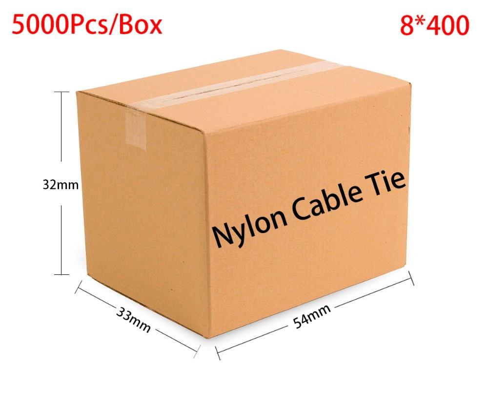 5000pcs/Box 8*400 8x400 width 7.6mm Self-Locking White Black Red Blue Yellow Green Nylon Wire Cable Zip Ties.Cable Ties искусственная сосна black box русский север 185cm green 74197 477936