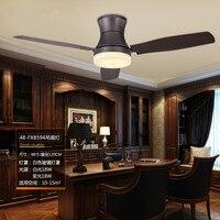 48 Inch Classical Dining Room Led Ceiling Fan Light Creative Retro Study Designer Light Restaurant Coffee Shop Fan Lights