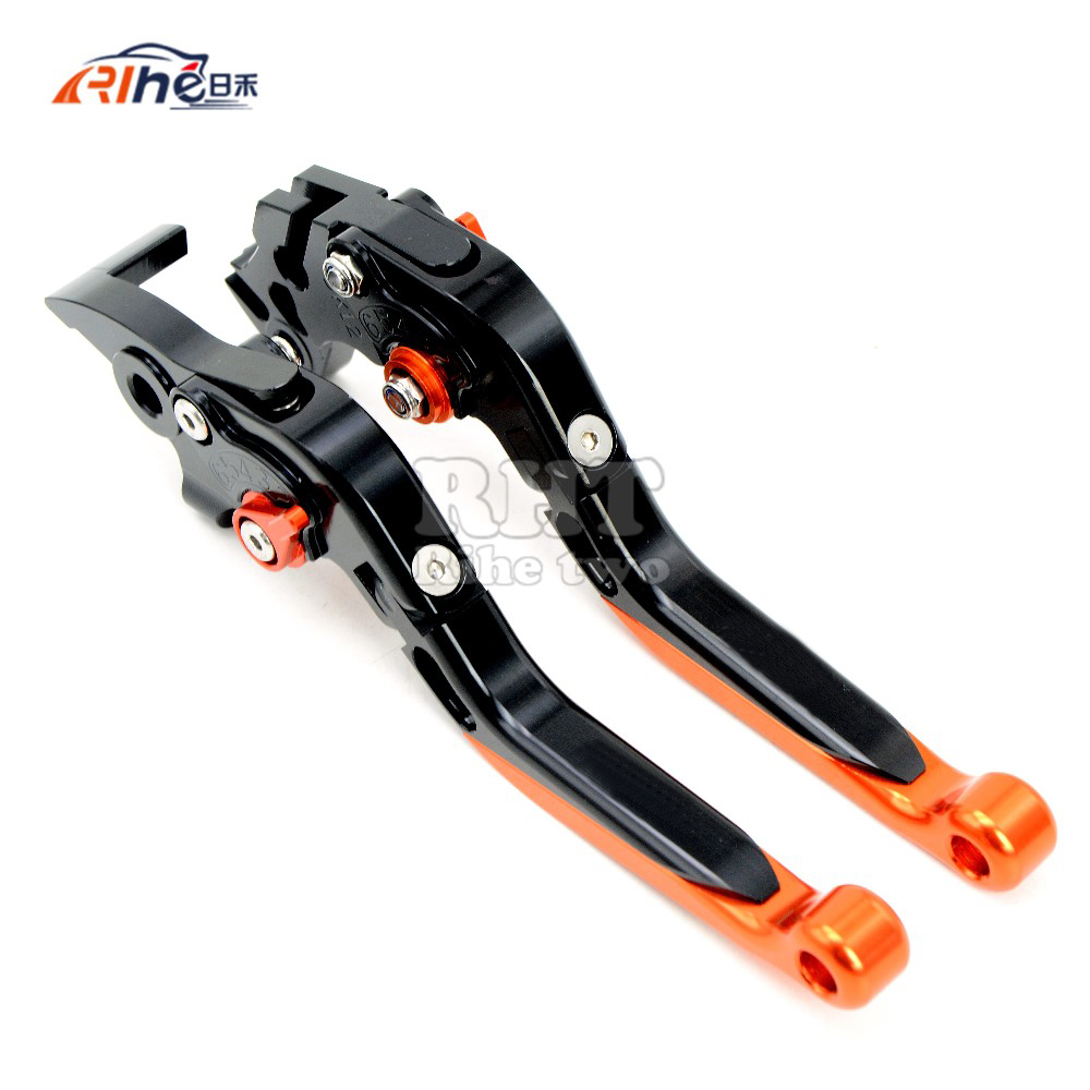 цены 2017 Motorcycle Accessories extendable Brake Clutch Lever For KTM 690 Duke/SMC/SMCR 690 Enduro R 690 Duke R 1290 Super Duke R/GT