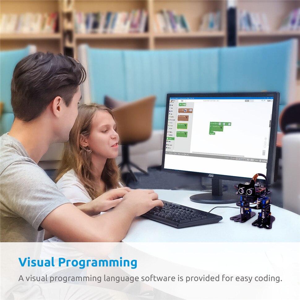 SunFounder DIY 4-DOF Robot Kit -Sloth Learning Kit for Arduino Nano DIY Robot (5)