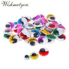 WISHMETYOU Self-adhesive Cute Doll Toys Black And White Eyes Kid Handmade Sewing Scrapbooking Diy Crafts Supplies Color Eye
