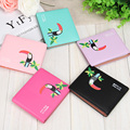 Hot Sale Fashion Women Wallets Love Bird Candy 5 Colors Cross Vertical Style Quality PU Leather Card Holder Purse  Free Shipping