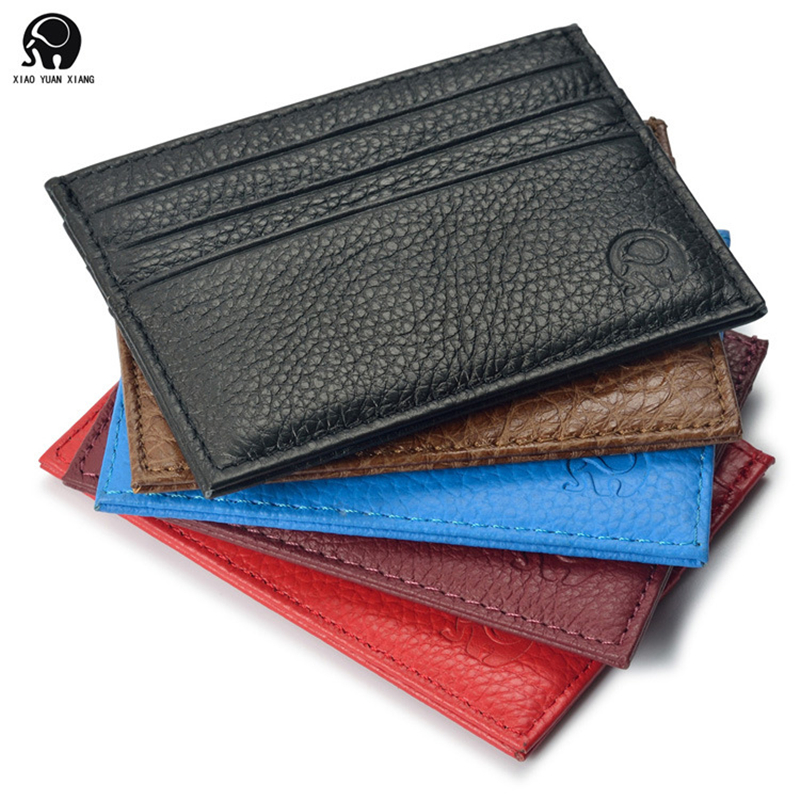 Super Slim Soft 100% Sheepskin Genuine Leather Card Holder Card Case Credit Card Organiz ...