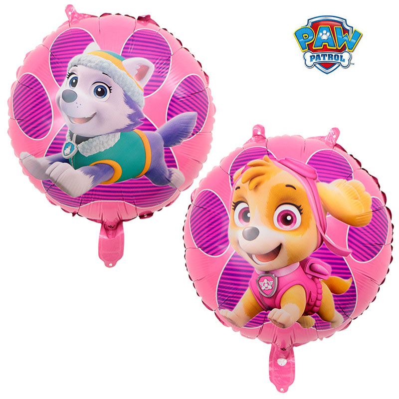 New Paw Patrol Birthday Decoration Figure Toys Paw Patrol Balloon Toys Party Room Decor Chase