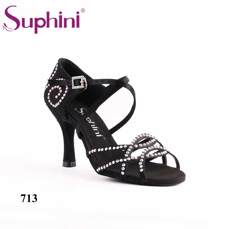 Suphini 713 Hot Sale Women Latin Dance Shoes Gold Glitter Dance Shoes Soft Leather Sole Ladies Ballroom Latin Dances Shoes latin canvas dance women shoes female adult social modern shoes with leather soft soled shoes women square dance shoes