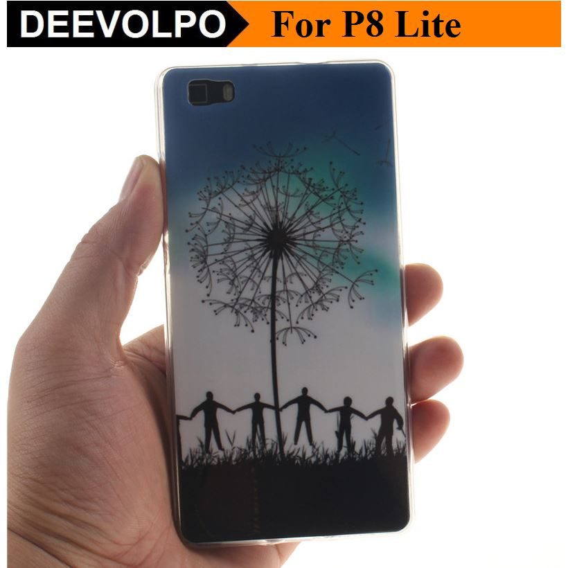 US $3 69 |DEEVOLPO Soft Silicone Cases Phone Bags For Huawei P8Lite P8 Lite  2016 Old Version Beautiful Orchid Wave Flower Panda Owl DP09G-in