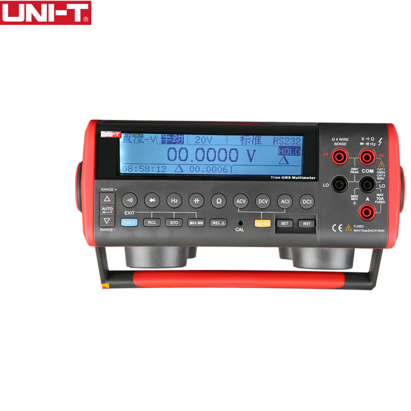UNI-T UT805A Ture RMS LCD Bench Type Digital multimeters Volt Amp Ohm Capacitance Hz Tester 199999 Counts High-Accuracy uni t ut804 lcd display bench type digital multimeters volt amp ohm capacitance hz 39999 counts tester high accuracy