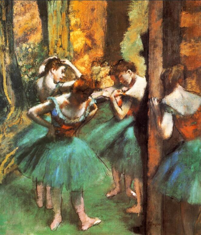 High quality Oil painting Canvas Reproductions Dancers, Pink and Green (1890) By Edgar Degas hand paintedHigh quality Oil painting Canvas Reproductions Dancers, Pink and Green (1890) By Edgar Degas hand painted