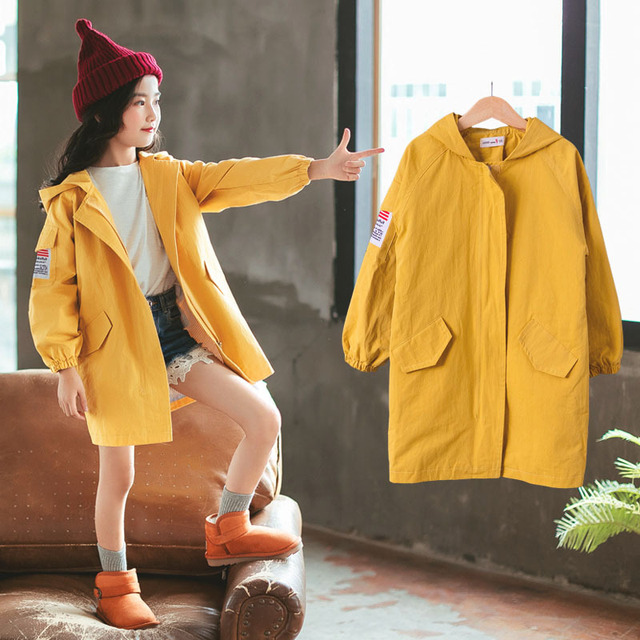 85c3666d3f53 Jackets For Girls 2018 New Fashion Hooded Baby Girl Coat Autumn Kids ...