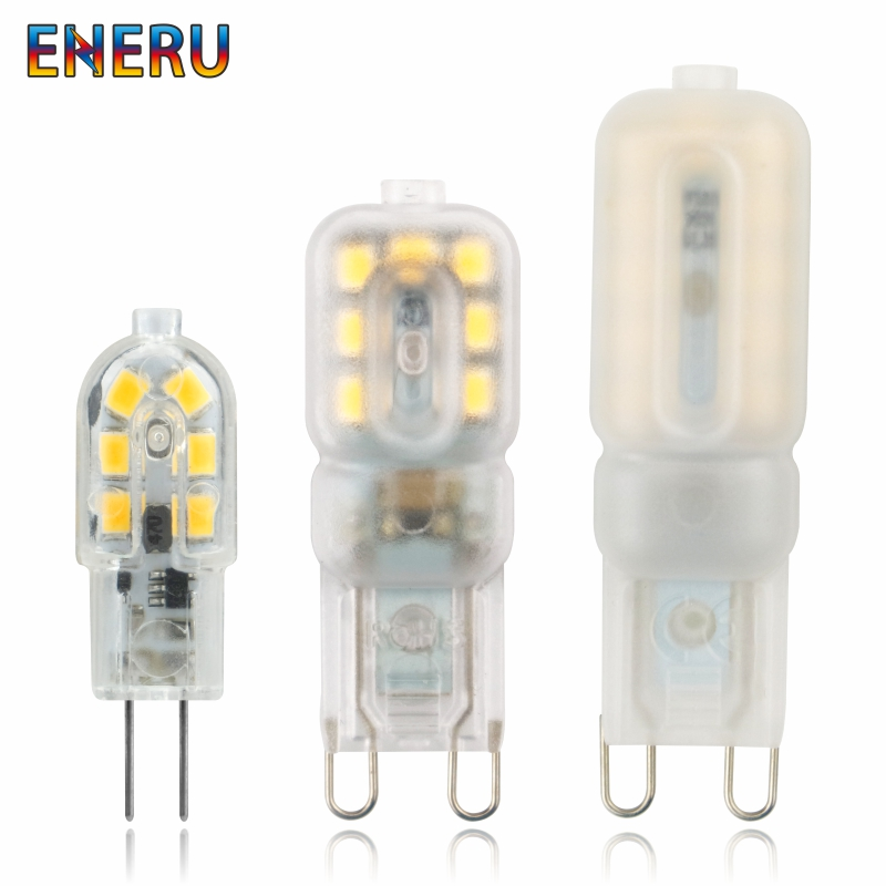 5pcs/lot LED Bulb 3W 5W G4 G9 Light Bulb AC 220V DC 12V LED Lamp SMD2835 Spotlight Chandelier Lighting Replace Halogen Lamps