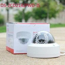 El envío gratuito colección inglés cámara del IP versión mp Mini cámara domo POE IP CCTV cámara DS-2CD2142FWD-IS