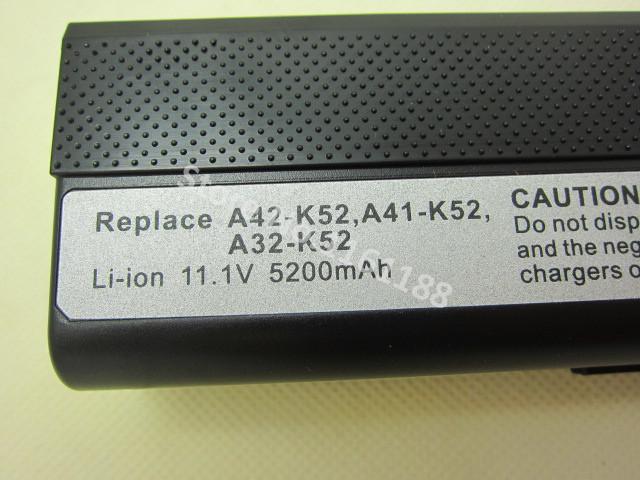 5200 mah batería del ordenador portátil para asus a52 a52j k42 k42f k52f k52j x67 x5i 70-a31-k52 nxm1b2200z a32-k52 a41-k52 a42-k52 a31-b53