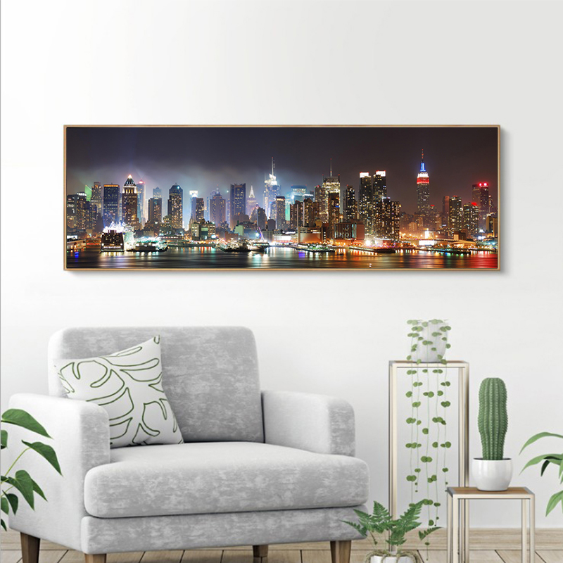 No frame canvas poster prints beautiful city night scene pictures art printed digital canvas photo printing dropship canvas art in Painting Calligraphy from Home Garden